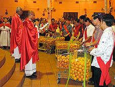 馬來西亞:華人舉行慶祝春節彌撒