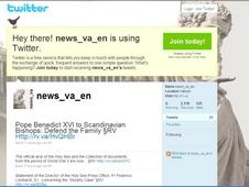 梵蒂岡:教廷推出微博客