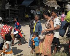 泰國教會援助逃難到邊境的緬甸難民