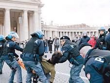 反資本主義者向梵蒂岡抗議期間爆發衝突
