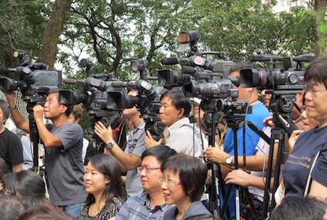 香港傳媒工作者認為新聞自由倒退