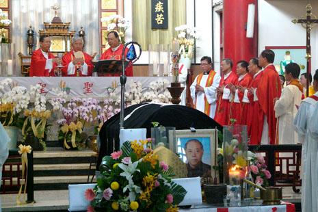 致力於教會本地化的成世光主教台南舉殯