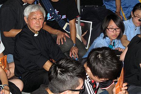 陳日君樞機靜坐支持反洗腦教育集會
