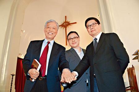 香港學者在教堂倡議佔領中環爭取普選