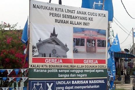馬來西亞教會對反基督徒競選廣告感憤怒 thumbnail