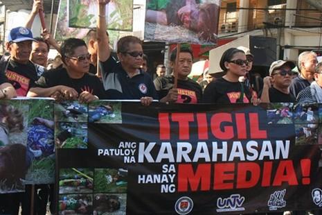 新聞組織指菲律賓記者受暴力和死亡威脅