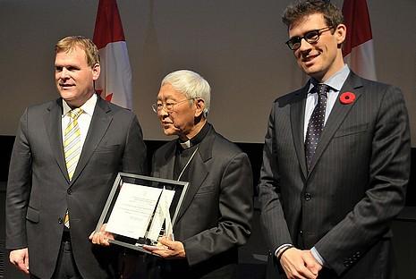 加拿大政府表揚陳日君樞機對人權的貢獻