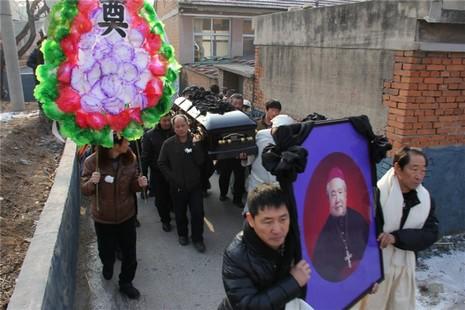 唐山劉景和主教聖誕前夕下葬,但未能達成遺願