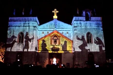 聖誕音樂自上榜「宗教百景」的萬金聖母聖殿響起