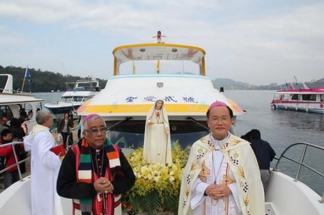 台菲合作下首座葡國法蒂瑪認證聖母像安座日月潭