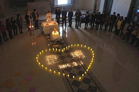 雲南教會為昆明恐怖襲擊事件的死傷者祈禱