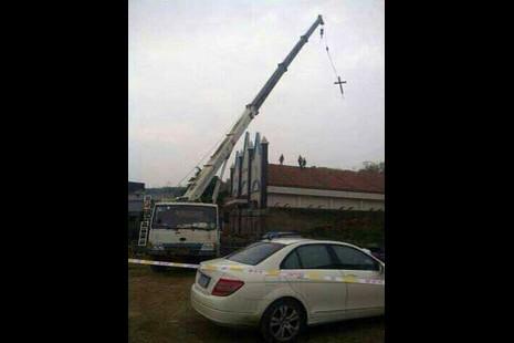 浙江多處基督教堂頂部十字架被拆,多名傳道員被帶走