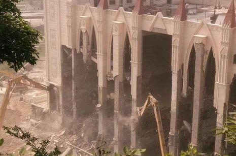 溫州當局強拆整幢基督教三江教堂