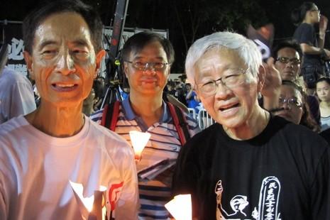 陳樞機首次參加六四集會,與十八萬人一起悼念