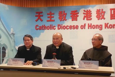 香港三位候任輔理主教會見傳媒談多方面議題