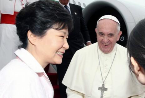 教宗對韓國主教團和政界人士的勸勉