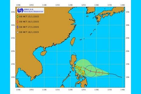 菲律賓準備迎接一股熱帶風暴,或會影響教宗的訪問