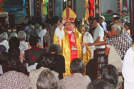 大陸非法主教春節期間私訪台灣,教會要員未與其接觸