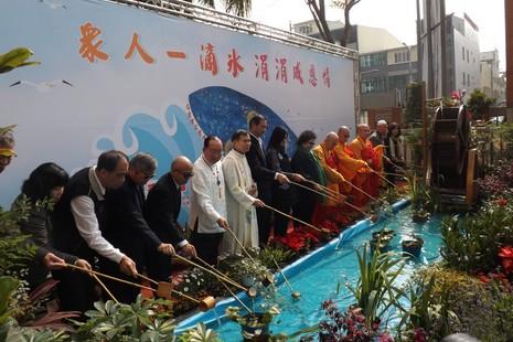 高雄六宗教祝禱大會,為去年氣爆重災區祈福