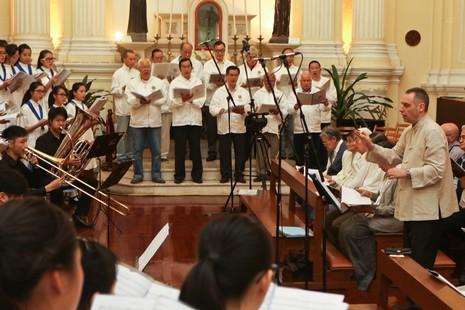 澳辦紀念利氏拉丁文彌撒音樂會,作曲家冀創作中文版本