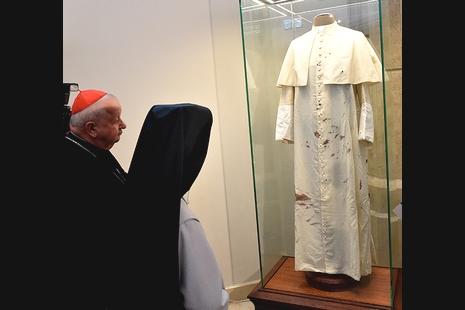 聖若望保祿二世九十五歲冥壽,染血長袍波蘭展出