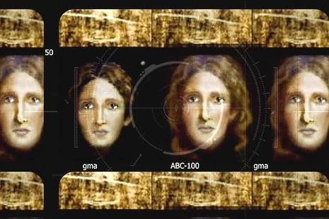 意警察利用裹屍布及先進科技,製作孩童耶穌肖像