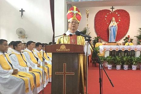被阻履行牧職近十年的周至教區吳欽敬主教公開就職