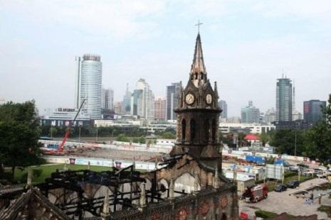 寧波被焚老堂預期年底復修完成,惟起火原因未明