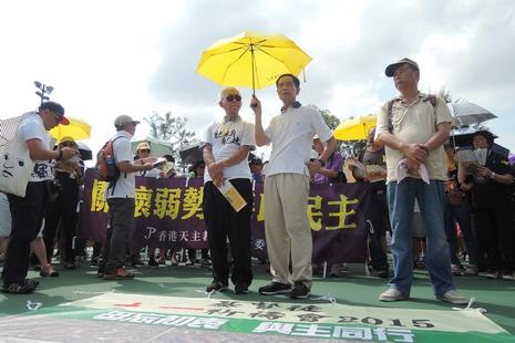香港政改被否決後七一遊行人數暴跌,牧者籲毋忘初衷