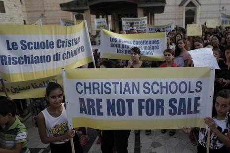 以色列教會學校罷課,抗議政府削減撥款
