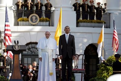 教宗方濟各首次訪美獲高調接待,強調政治須為人服務