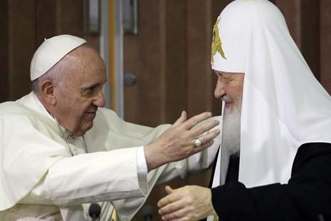 教宗與基利爾宗主教兄弟間的談話,作出行走中的合一