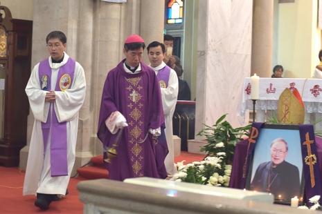 上海教區為金主教舉行追思彌撒,由毗鄰教區主教主持
