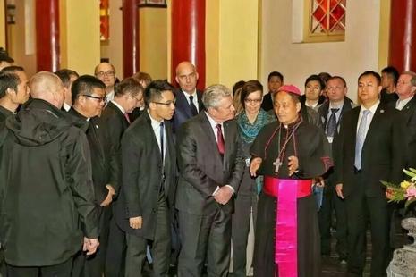德國總統訪西安教區,黨主教指有助兩國慈善機構合作 thumbnail