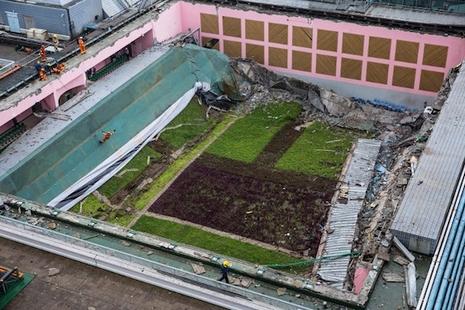 大學天台花園坍塌,教會學校及堂區指同類項目建造嚴謹