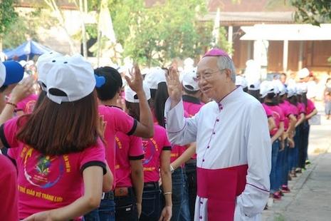 越南教友就環境災難參與民眾示威,污染或涉台資工廠