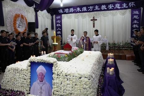 溫州教區為朱主教舉殯,地下四神職人員被帶走