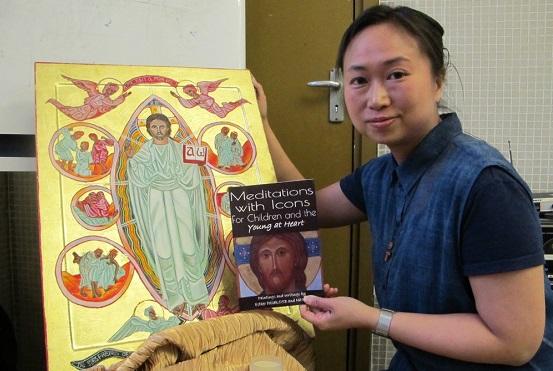 【特稿】香港首位女性聖像畫員,從聖像畫親近天主