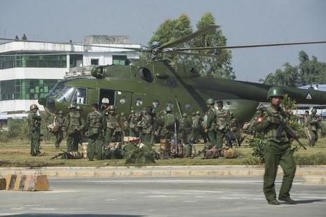 緬甸撣邦戰鬥摧毀天主堂,難民逃到中國邊境 thumbnail