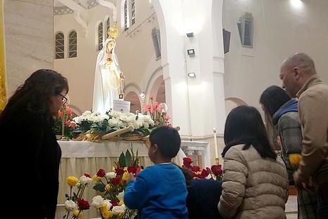 教宗祝聖法蒂瑪百周年聖母像,香港為世界朝聖遊首站