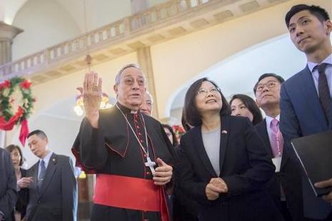 台總統蔡英文完成拉美四國訪問,期間親訪教宗顧問 thumbnail