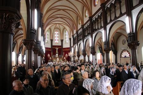 日本天主教紀念發現「隱匿基督徒」團體一百五十周年