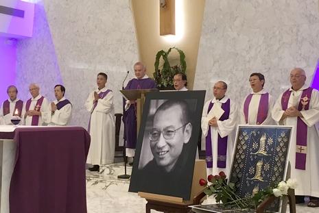 香港數百天主教徒出席劉曉波追思彌撒
