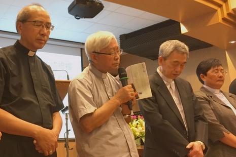 香港六萬人七一遊行爭民主,兩主教呼籲基督徒莫失望