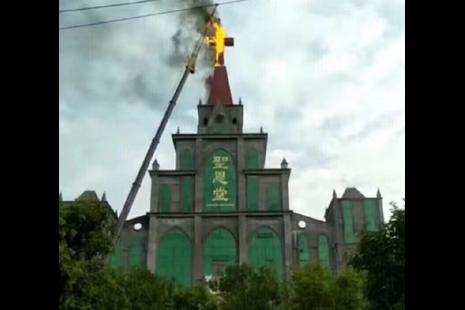 河南省发生首宗强拆十字架,专家称或不是个别事件