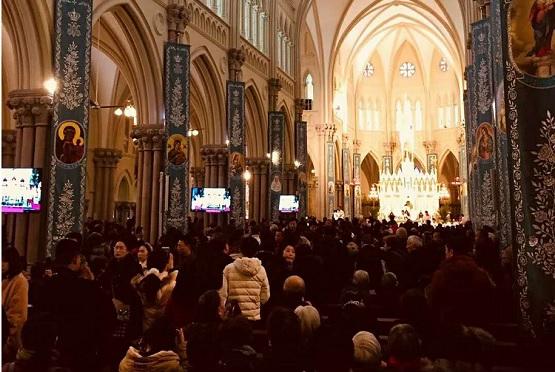 徐家汇主教座堂历逾两年修缮,重启弥撒欠马达钦主教身影