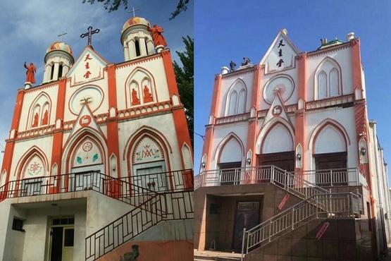 新疆教堂十字架被強拆,指不符合中國化