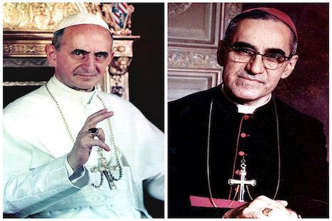 教宗保祿六世和羅梅洛總主教將獲封聖