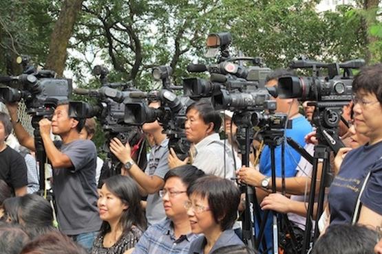傳媒從業員恐廿三條立法,呼籲同業不要放棄新聞自由