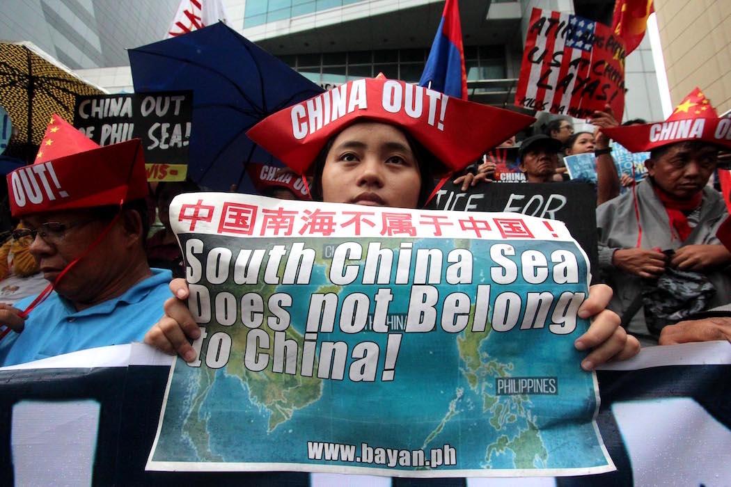 菲律宾民众抗议国家的「屈从外交政策」